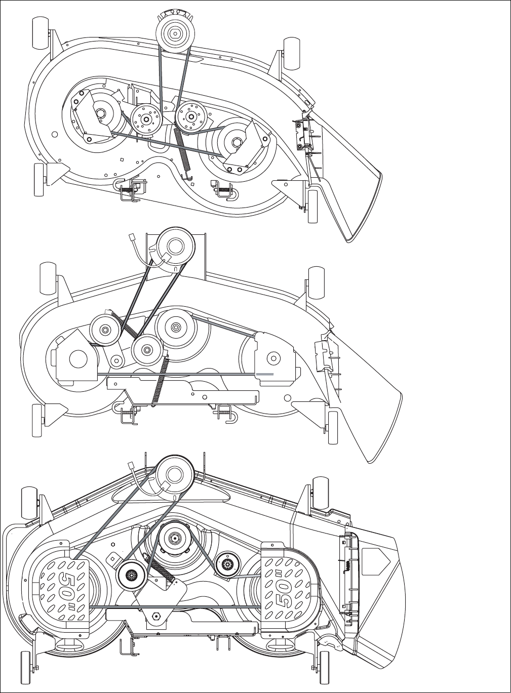 cub cadet mower belt diagram