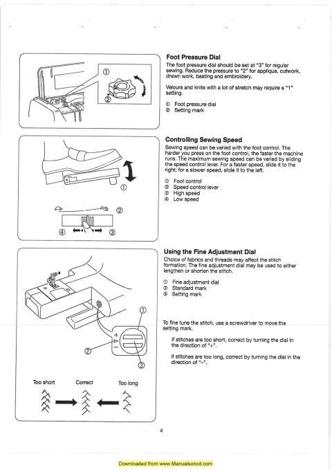 Elna 6003 Sewing Machine Instruction Manual - instruction manual