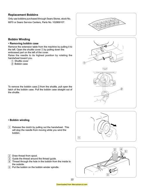 Kenmore 38413012000 Sewing Machine Instruction Manual - instruction manual