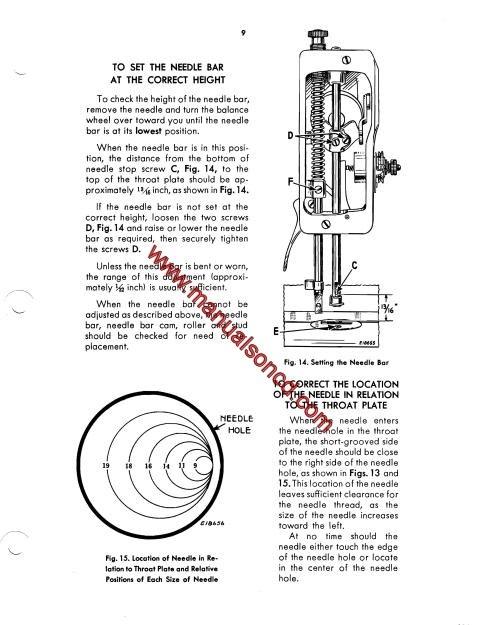 singer sewing machine diagram