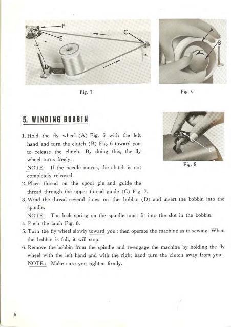 Morse 5400 Sewing Machine Instruction Manual - instruction manual