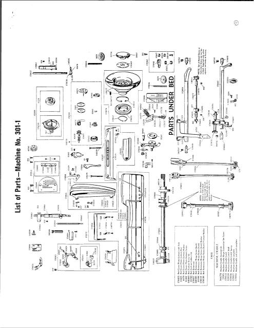 singer 301 wiring diagram