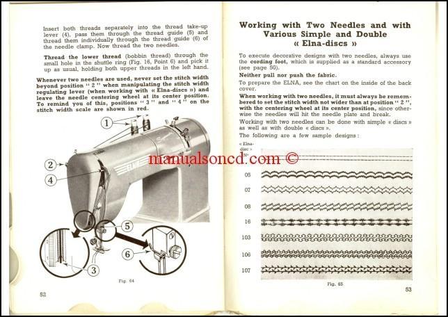 Elna Supermatic 2 Sewing Machine Instruction Manual - instruction manual