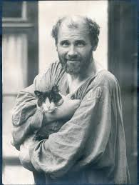 photo Gustav Klimt portant un chat