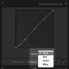 Gradationskurven in Lightroom 4
