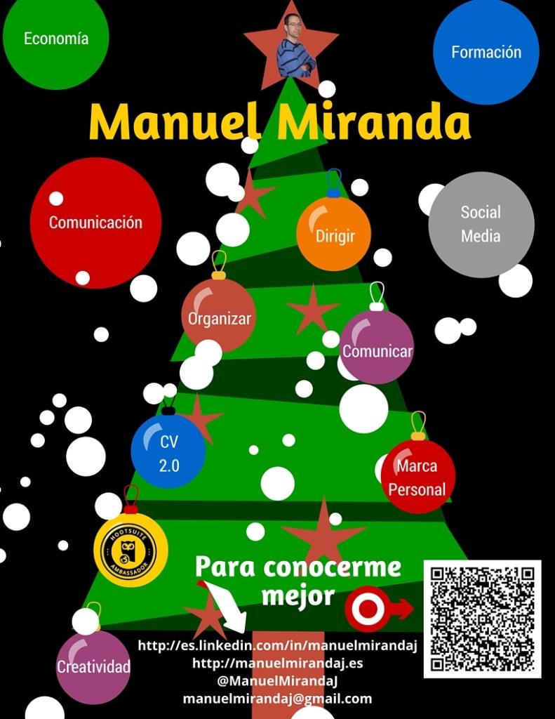hacer un curriculum infografico Navideño Manuel Miranda Jimenez