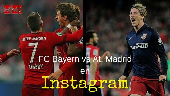 Cómo comparar cuentas de Instagram: Atleti – Bayern