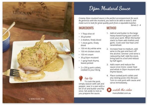 Dijon Mustard Sauce - Manu Feildel  Manu Feildel