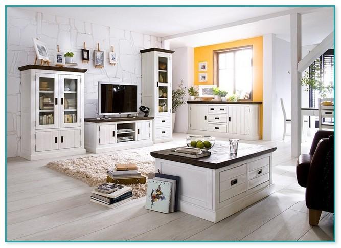 Weiße Landhausmöbel Wohnzimmer