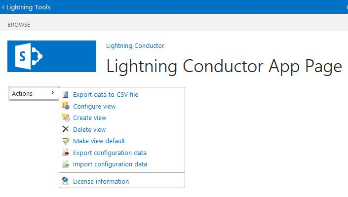 Using Multiple Views - Lightning Conductor Add-In - 1
