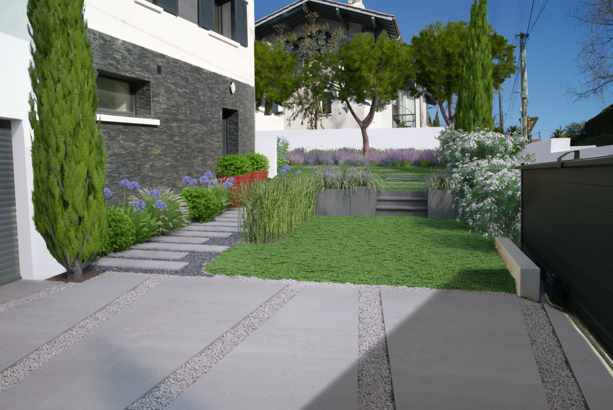 Amenagement Exterieur Jardin Moderne Jardin Moderne Bidart With Jardin Moderne Photo