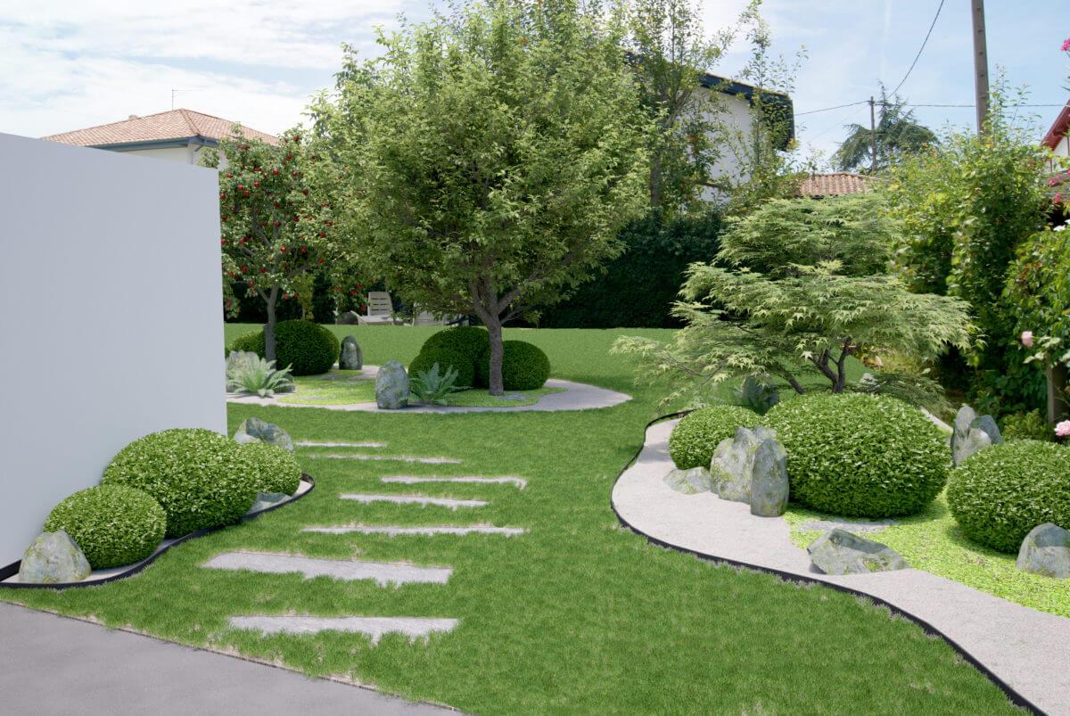 Idee Creation Jardin   Creation De Jardin Zen Jardin Ombre Zen With ...