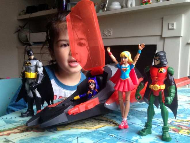 DC Super Hero Girls Action Figures compared with Batman Unlimited
