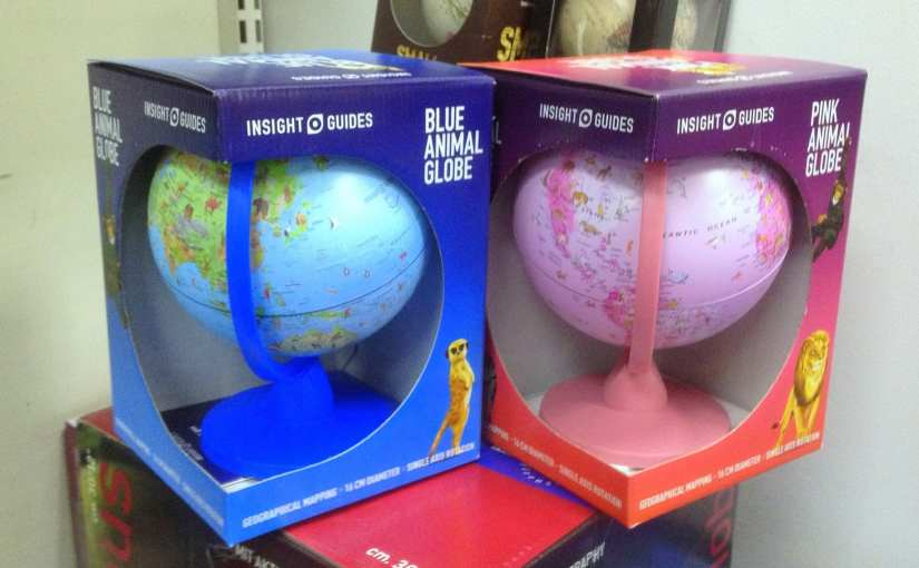 Does the world need pink and blue globes?