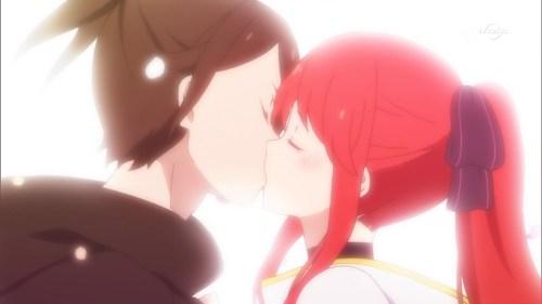 ヴィルヘルムとテレシアのキス