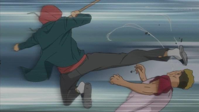 赤城賀寿の飛び蹴り