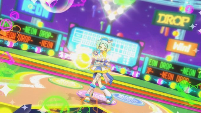 ボールを投げる虹色にの