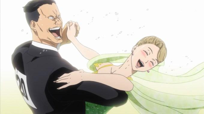 笑顔で踊る峰悟郎と甲本明