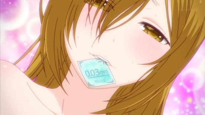 ゴムをくわえる愛川美咲