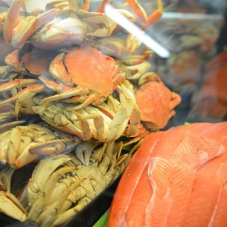 Tons of tasty Salmon, Crab, & more!