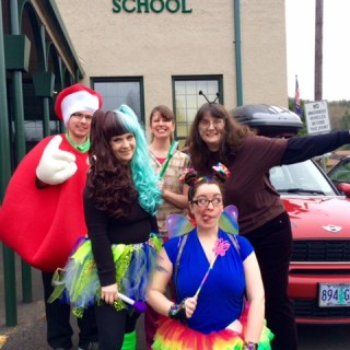 Tooth Crew: Denise Weiss, Alice Jeffers, Keri Scott, Jane Dageenakis, and the Apple (Me)!