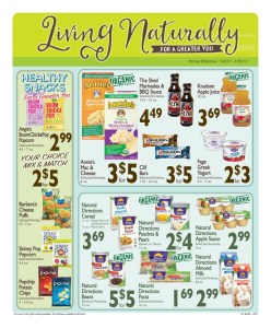Great deals on snacks, Natural Directions Almond Milk, & Clif Bars!