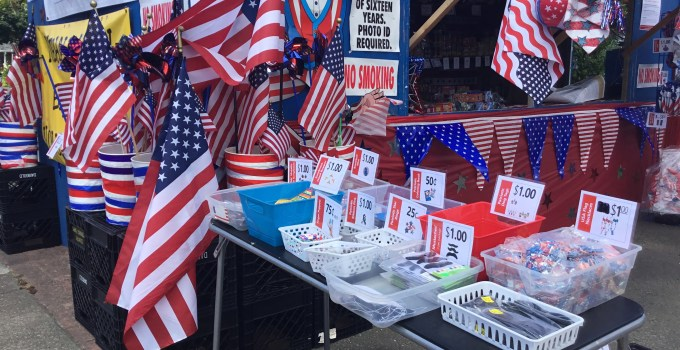 4th of July Fundraising Booth