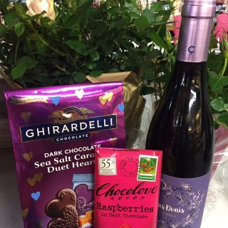 Flowers, Chocolate, and Wine.  Oh my!