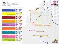 Mapa y plano de bus de la Ciudad de Mxico DF : estaciones ...