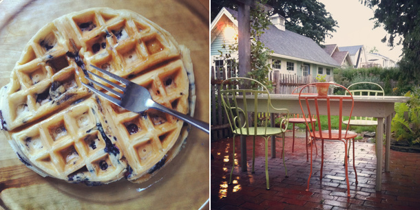 Blueberry Waffles, Rainy Sunday