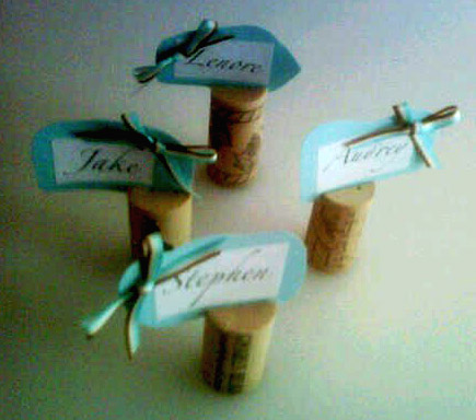 Place Card Primer: Recycled Wine Corks (6/6)