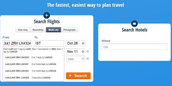 how to book google ita software flights using hipmunk