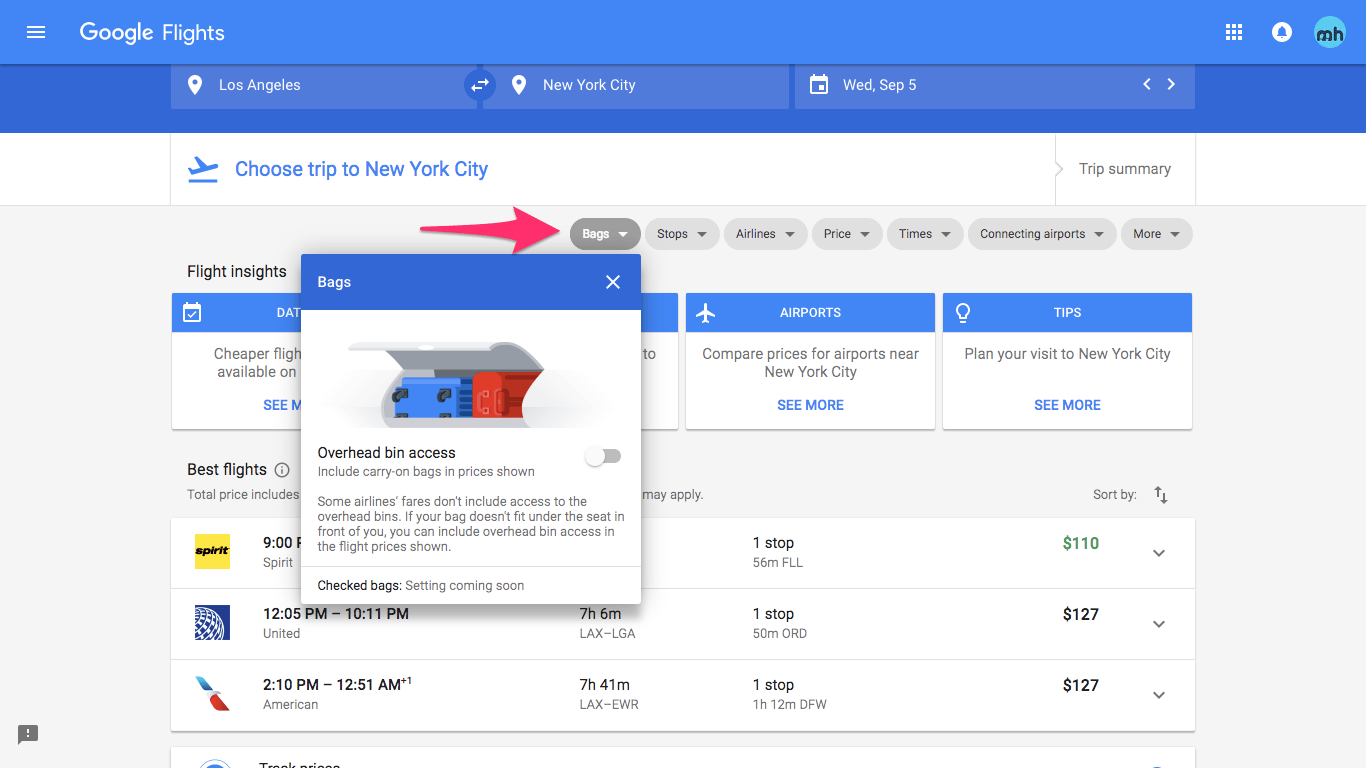 Google Flights Here S How To Filter Out Basic Economy Fares In Google Flights