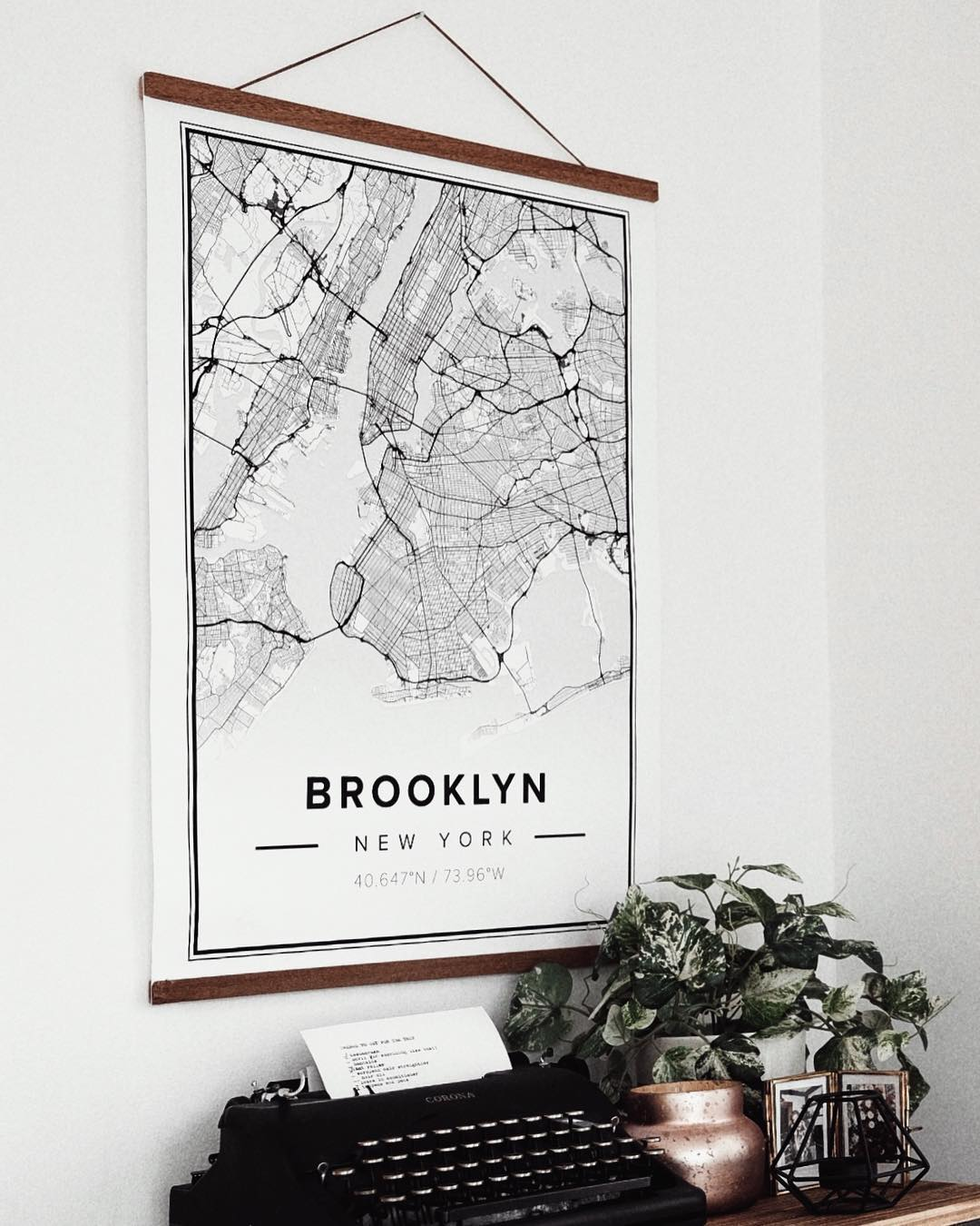 50x70 Poster Map Poster Of Brooklyn 50x70cm