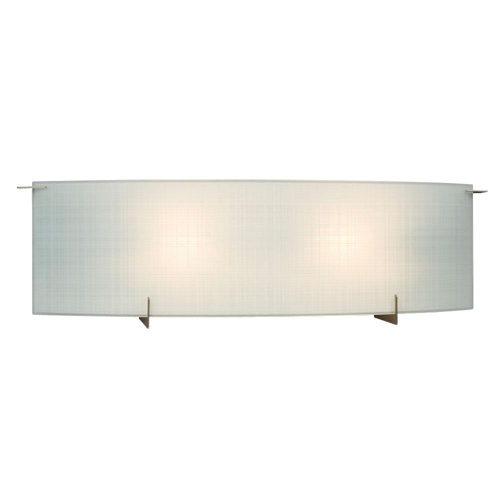 Galaxy Lighting 2 Light Bath Vanity Light In Pewter Finish With Frosted Linen