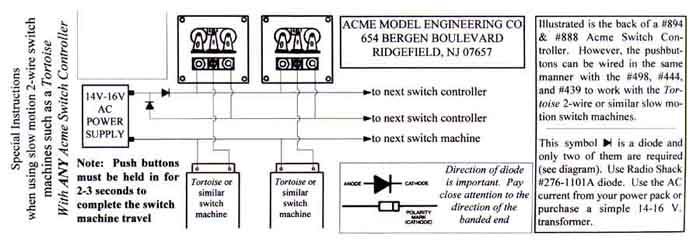 Instructions for Acme Switch Controllers without Lights