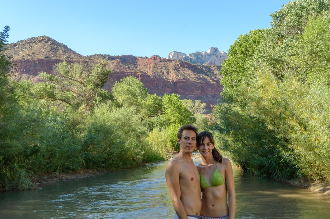 Our camping ground in Zion National Park