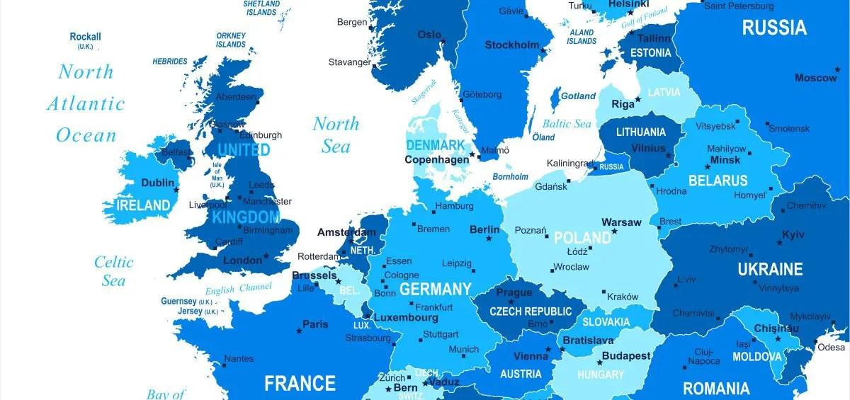Map of Europe 2018 Map of Europe Europe Map
