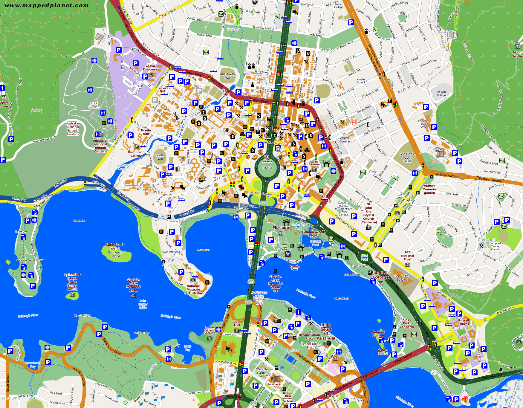 Map Of Canberra City Maps Canberra