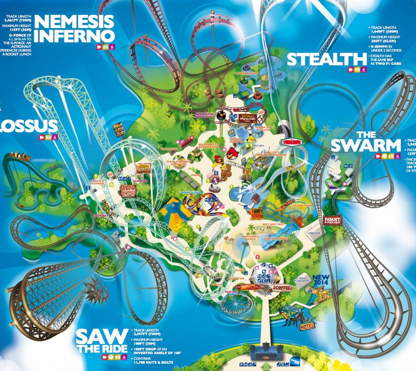 Theme Park Maps! Mapping London