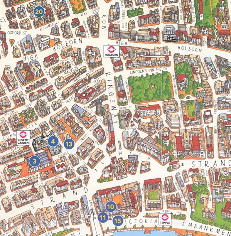 London Tourist Map Mapping London