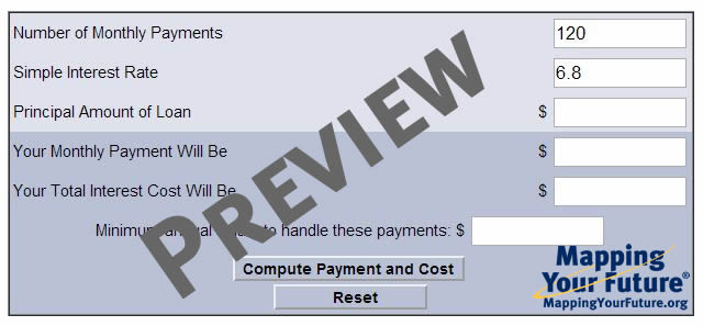 Mapping Your Future Mapping Your Future\u0027s standard repayment
