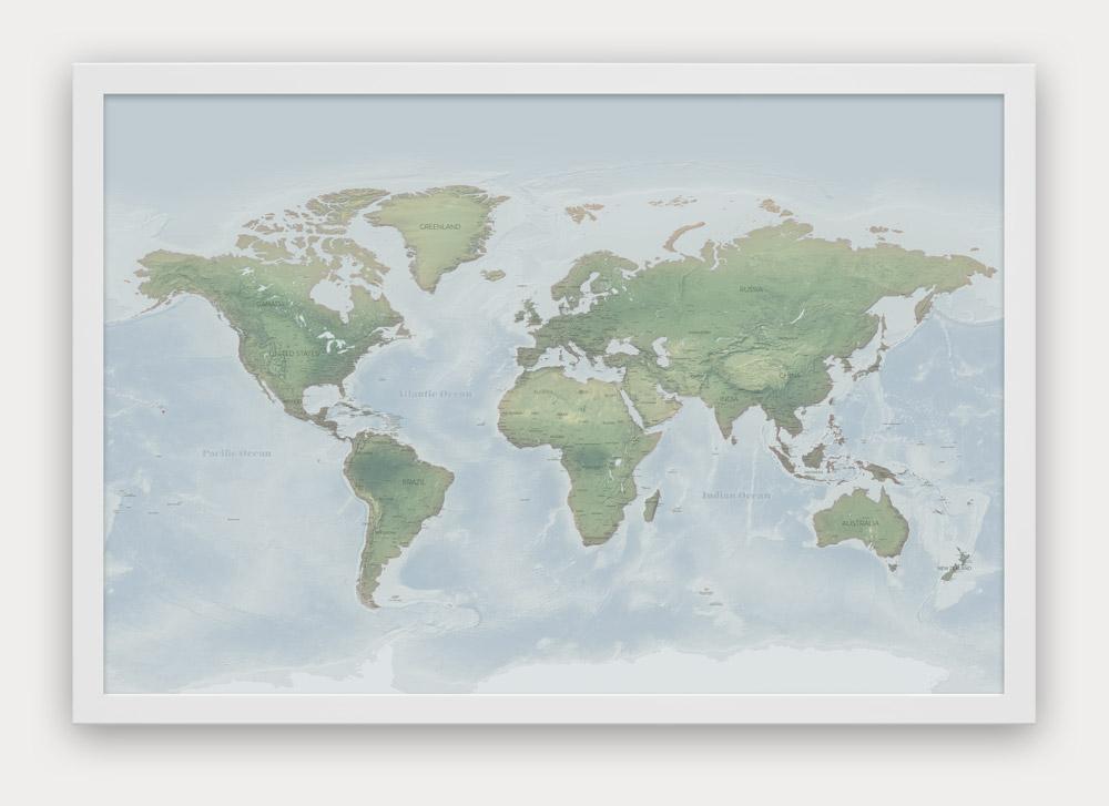 World  USA Push Pin Travel Maps - Designed by Map Republic