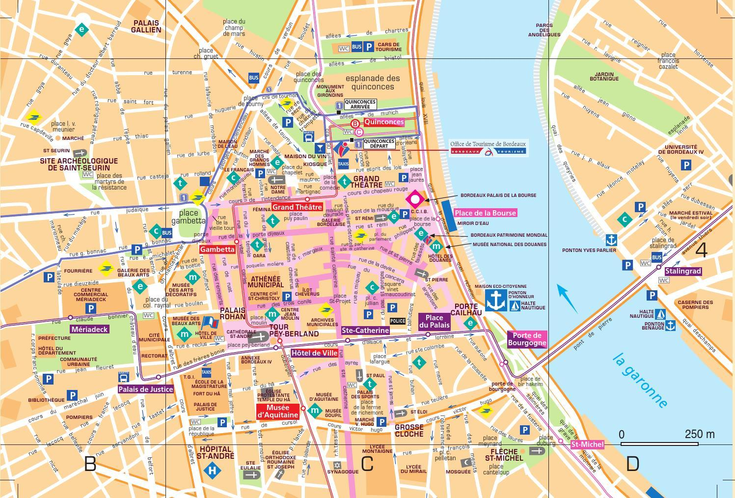Bus Bordeaux Barcelone Bordeaux City Map Pdf Bordeaux City Map Download