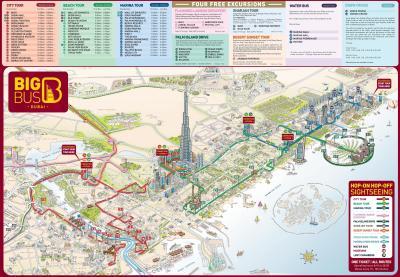 Dubai tourist attractions map - Dubai map with tourist ...