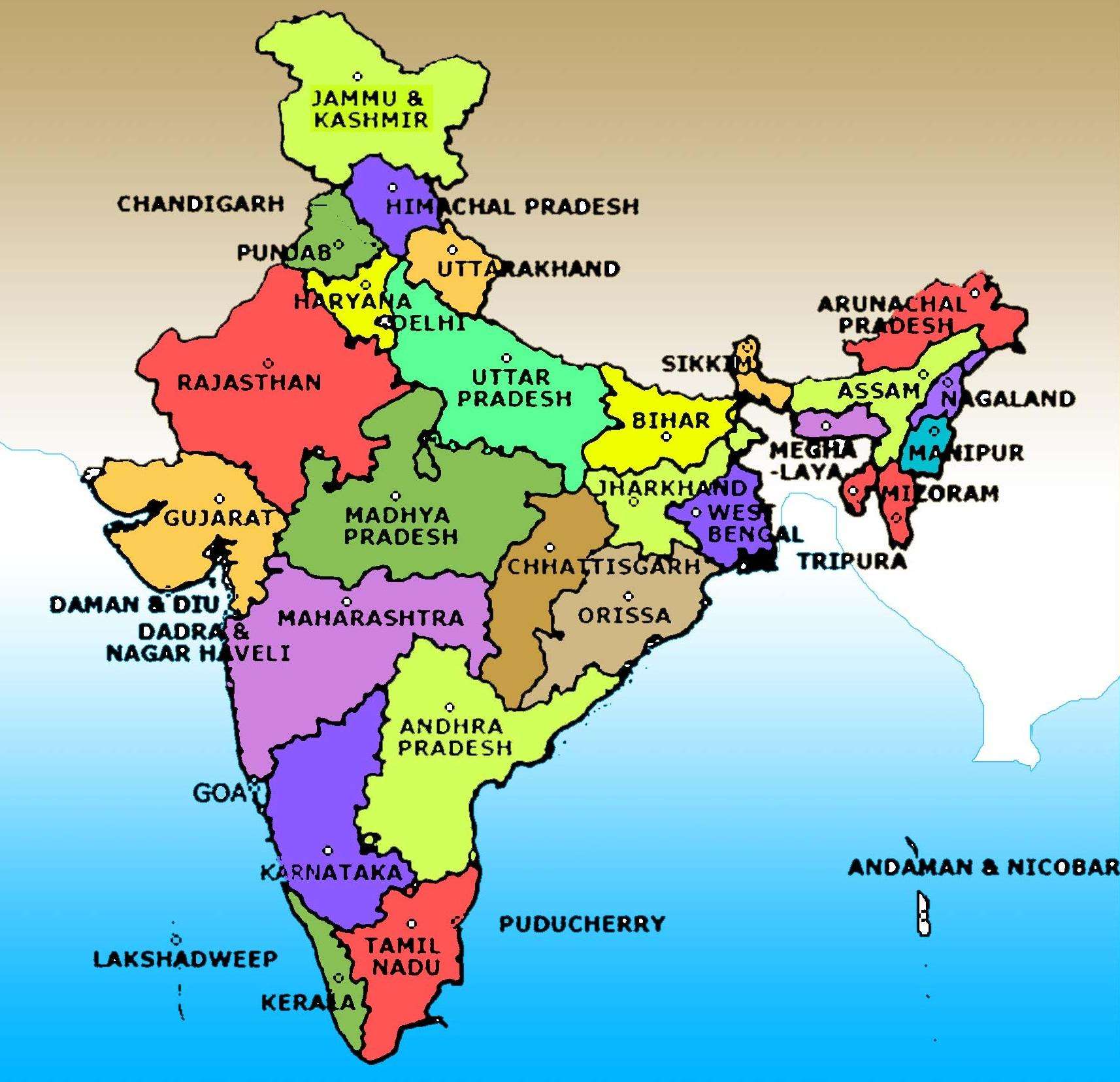 Indian Flag Full Hd Wallpaper India Map Image With State Name Map Of India Image With