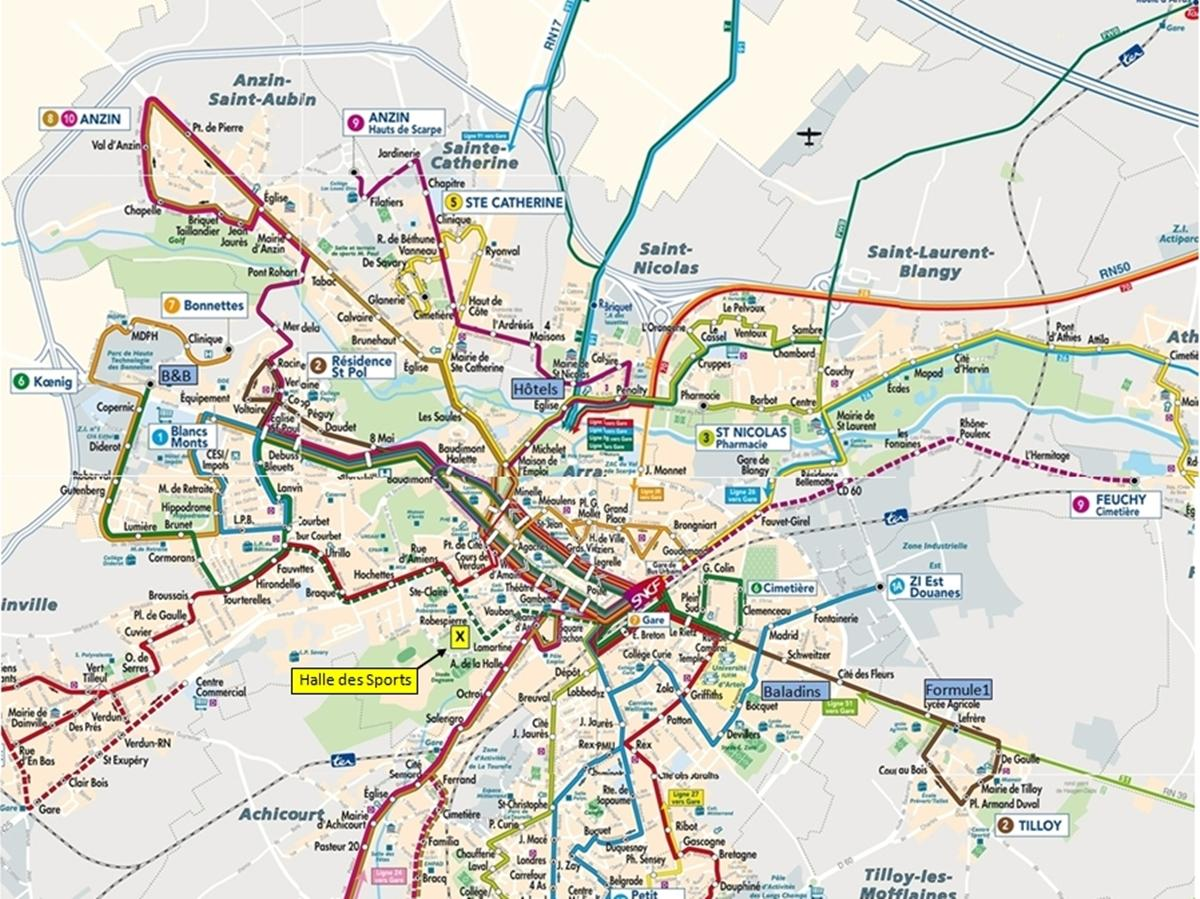 Bus Lille Metz Lille Transport Map Lille Public Transport Map Hauts De