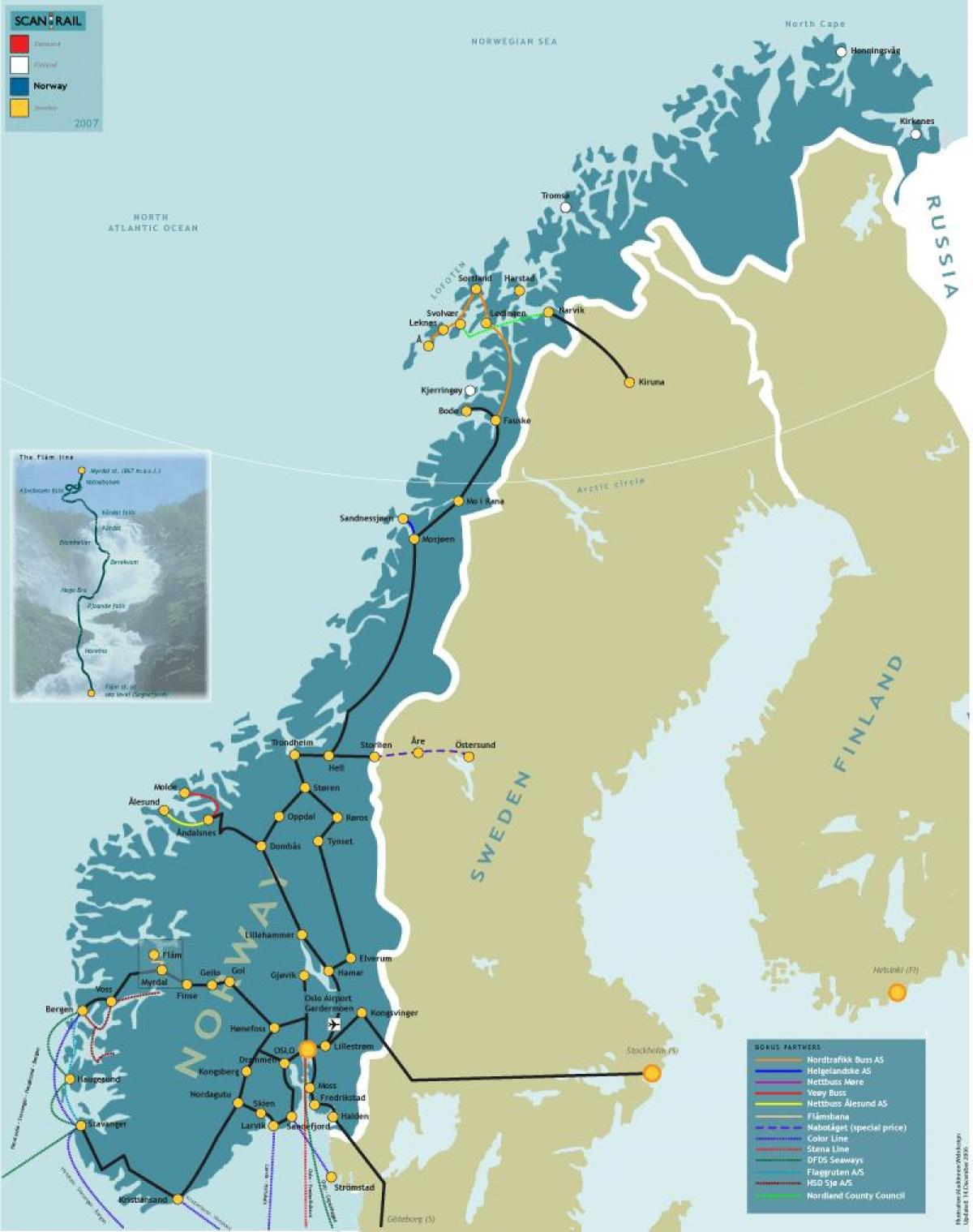 Norway Train Norway Train Map Norway Rail Map Northern Europe Europe