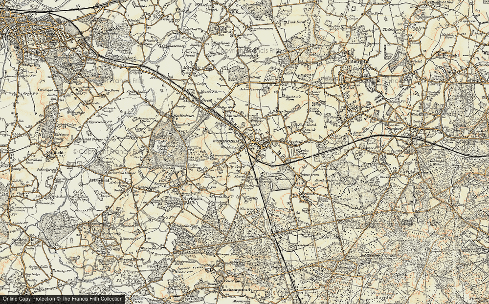 Large Scale Wallpaper Old Maps Of The Wokingham Area - Francis Frith