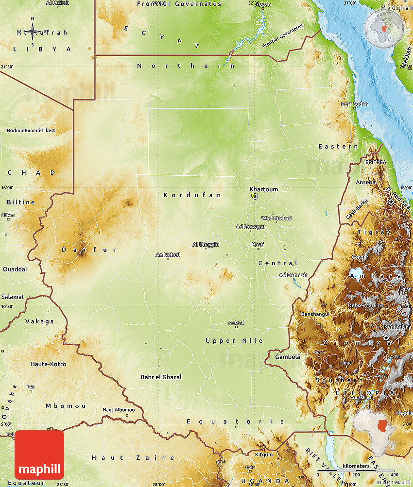 Physical Map Of Darfur - Inspirational Interior style concepts for on